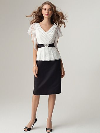Satin Skirt Shown with top 7248 Top & Skirt Shown separately Sizes: 0 to 26W