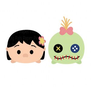 Lilo Stitch and Scrump Tsum Tsum SVG cutting file #paperpiecingpals #SVGdisney