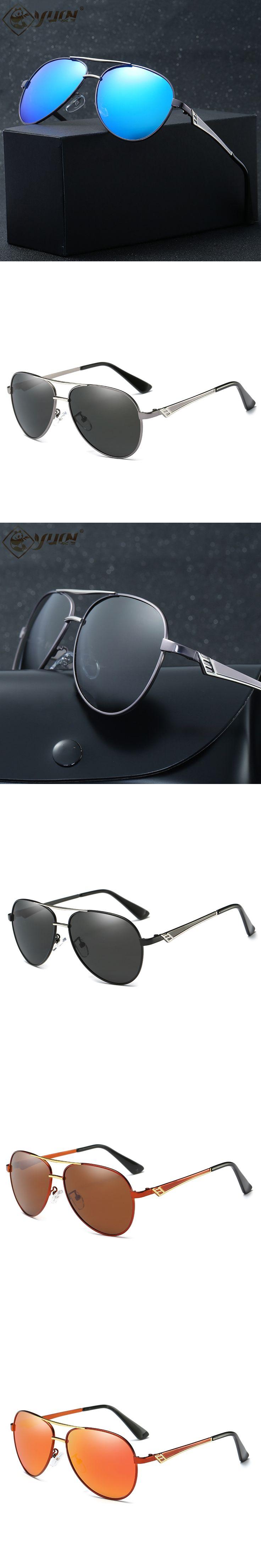 YUW brand design sunglasses alloy frame polarized driving sun glasses for men Oculos De Sol 390