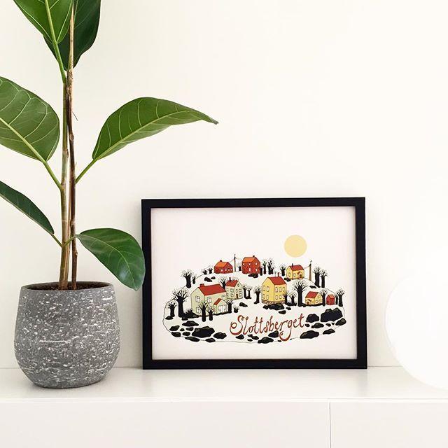 Slottsberget som print! Har några ex inne 🤗 Glad Påsk! 🐣🐥 #slottsberget #hisingen #göteborg #artprint #graphicart #print #poster