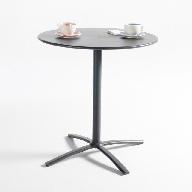 Металлический круглый столик на одной ножке для сада, Hiba La Redoute Interieurs : цена, отзывы & рейтинг, доставка. Металлический круглый столик на одной ножке для сада Hiba. Полностью металлический круглый столик на одной ножке для сада можно использовать на террасе, балконе или в саду. Практичный столик, наклонная столешница обеспечивает легкое хранение вещей. Характеристики круглого столика на одной ножке Hiba :Металлическая ножка, покрытие эпоксидным лаком.Наклонная столешница для эк...