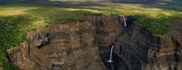A canyon in Siberia's Putorana Plateau, Russia