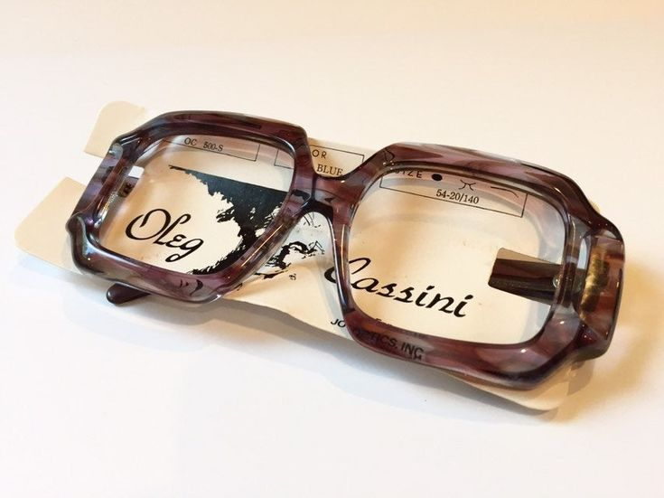 Vintage 70s Large Oversize Eyeglass Frames   New Old Stock   Big Square Thick Eyeglasses   NOS Large Purple Blue Oleg Cassini Glasses Frames – Retro Eyeglasses