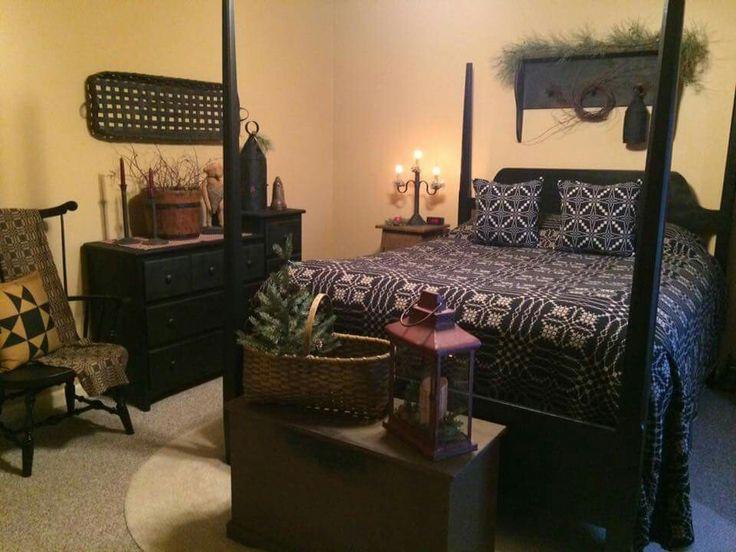 primitive styled bedroom