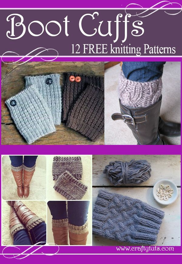 Boot cuffs free knitting patterns.
