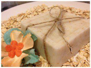 Homemade oatmeal soap bars