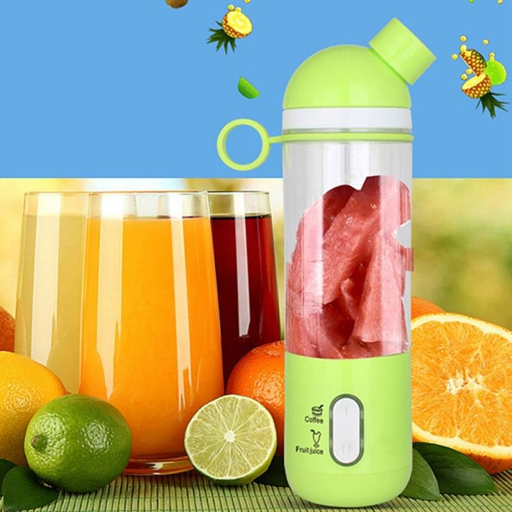 Stylish electrical juicer USB portable juicer mini size chargeable juicer coffee maker - GREEN  home  kitchen