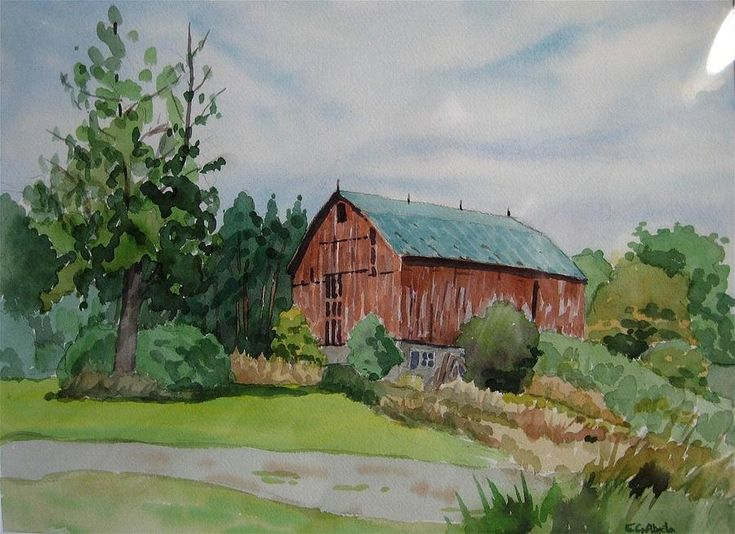 Edward Abela - Barn At Elgin Mills Painting