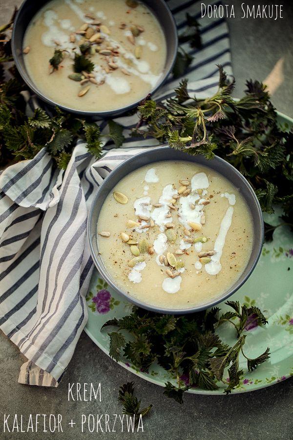zupa krem z kalafiora i pokrzywy