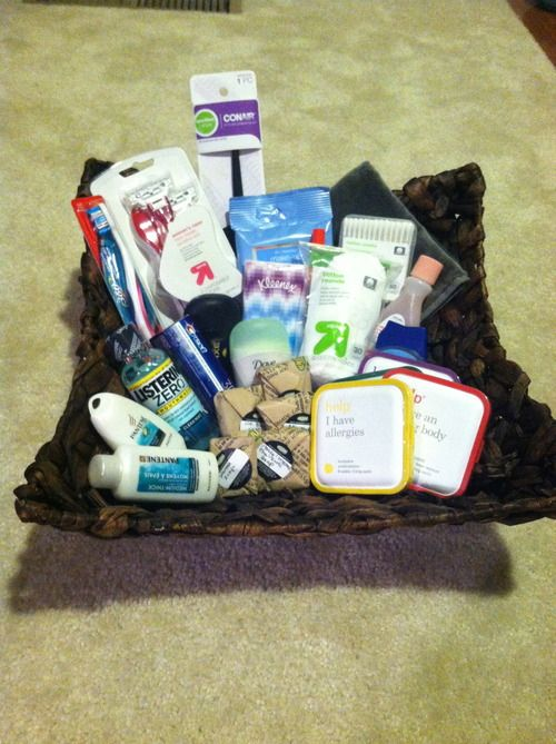Make a basket of all the toiletries you could ever need and set it out in the bathroom during a sleepover.  Then you won't be digging for a toothbrush when Betty realizes she forgot one!!