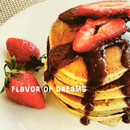 Pancakes with ricotta cheese perfect for lazy sunday breakfast
