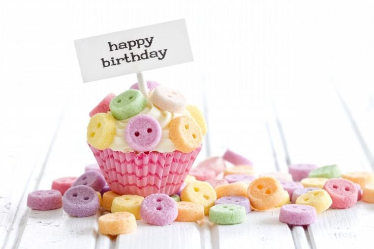 Happy Birthday – Cupcakes with Candles, Cute Images   Amazing Photos