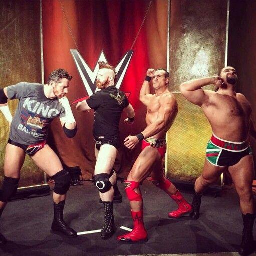 Wade Barrett and his mates #wwefastlane