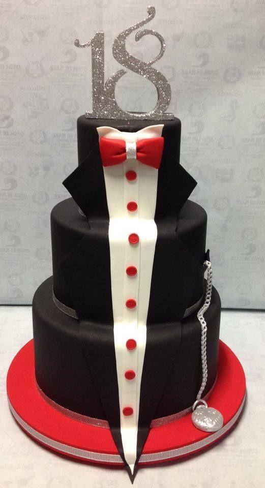 Elegant Cake Man - 18° Birthday Cake