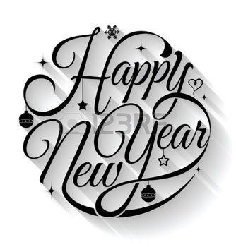 Happy new year card. Illustrazione vettoriale. Pu� usare per la stampa e web. photo
