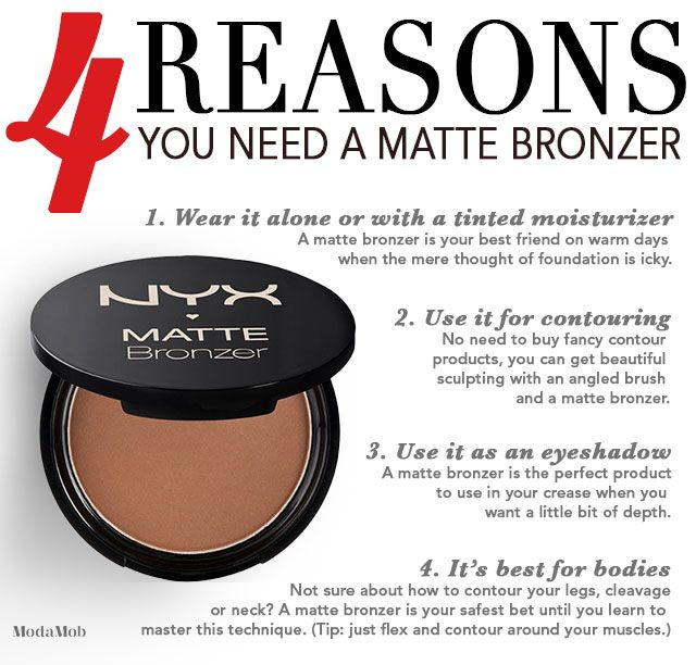 4 Reasons You Need a Matte Bronzer #highlightandcontour #bronzer #nyx