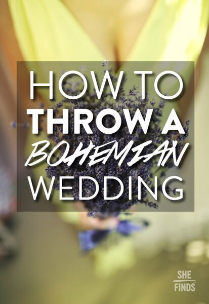 Tips for throwing a bohemian wedding