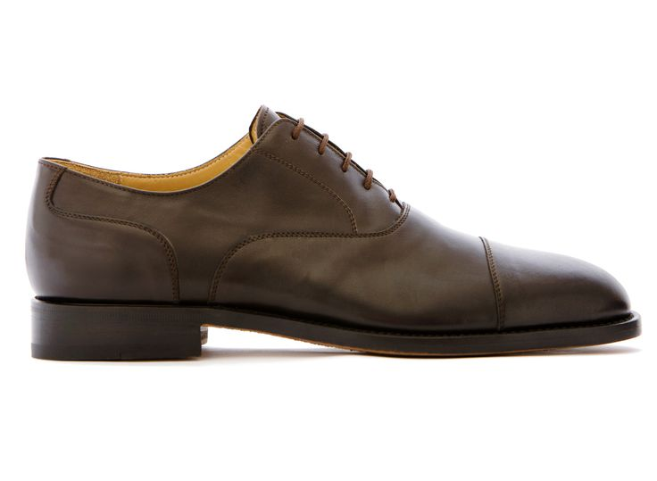 Brown Oxford Shoes in Full Grain Leather - El Marchés - Velasca - Men's Fashion