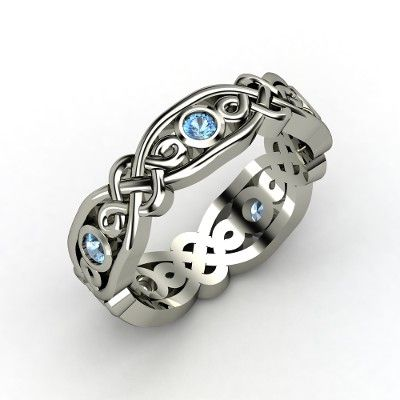 celtic: Brilliant Alhambra, Style, Celtic Rings, Gold Rings, Jewelry, Celtic Knot, Sterling Silver Rings, White Gold, Alhambra Band