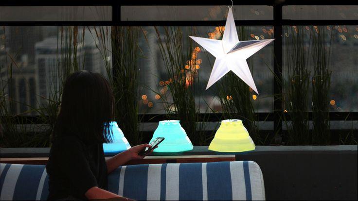 LuminAID Smart Solar Garden: Wireless Outdoor Illumination by LuminAID — Kickstarter. Transformable, origami-inspired, solar-powered lanterns for outdoor use. Control by Bluetooth to customize your garden illumination.