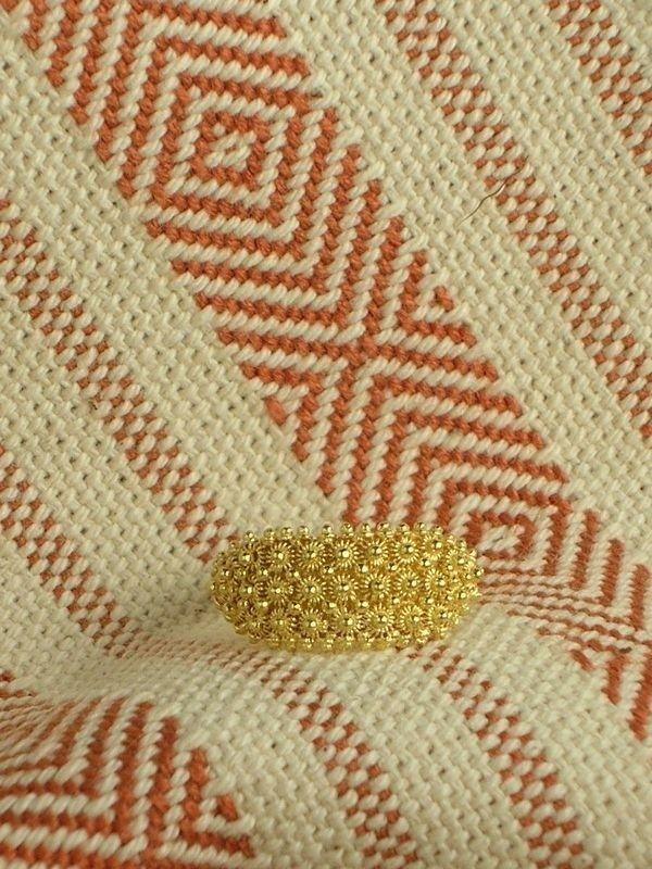 Fede sarda tradizionale in oro a tre file