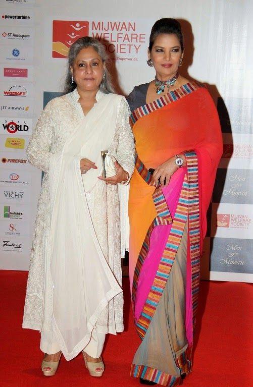 Shabana Azmi and Jiya Bachan at Manish Malohtra's Mijwan Fashion Show 2014