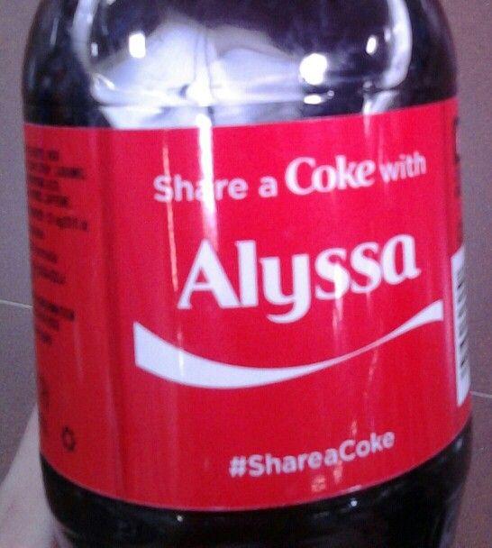 My Name On A Coke Bottle Alyssa Pinterest Names