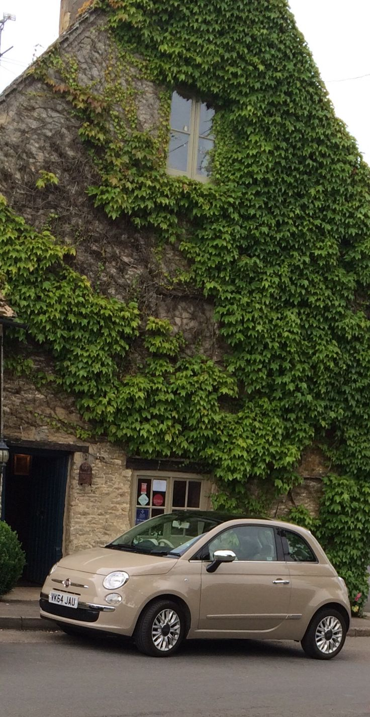 Fiat 500 New Age Cream & it's all mine!!  Looking fab in the  Cotswolds, England