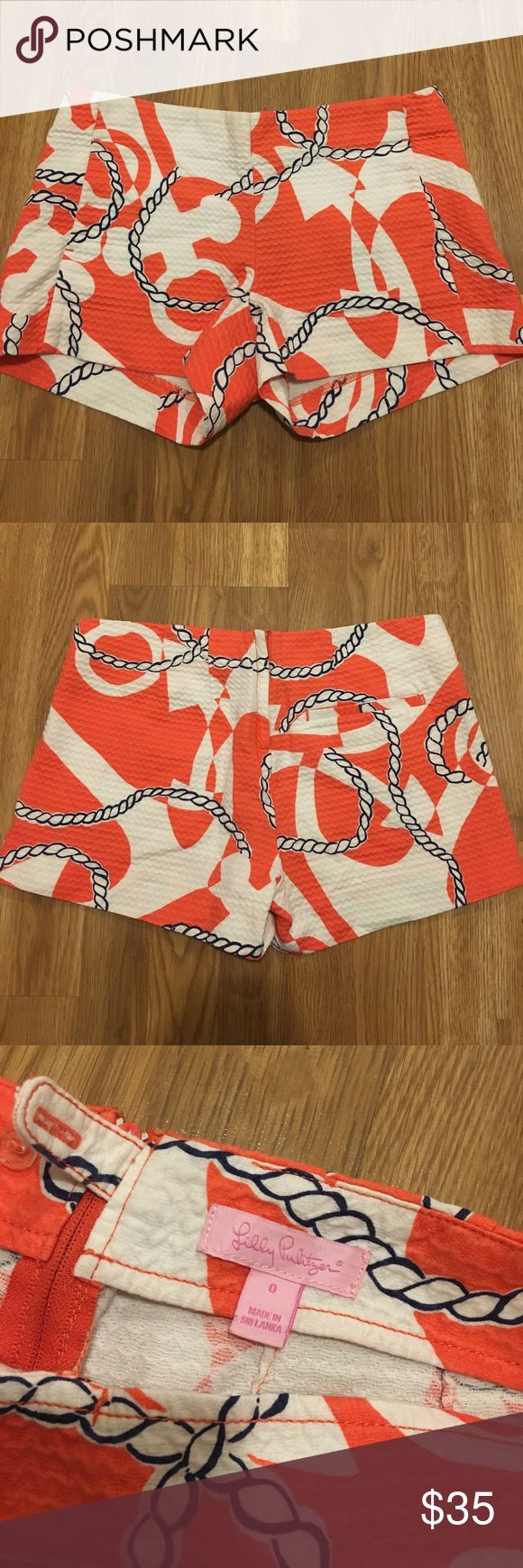 Lilly Pulitzer Anchor Shorts never worn, no tags. great condition: size 0 Lilly Pulitzer Shorts