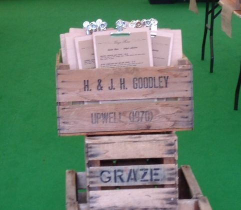 Graze restaurant @ the Hay Festival ~ menu clipboards