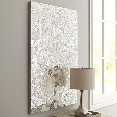 Floral Capiz Wall Panel Possibility For Dining Room