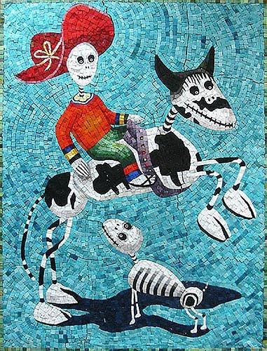 Day of the Dead mosaic by British artist Martin Cheek
