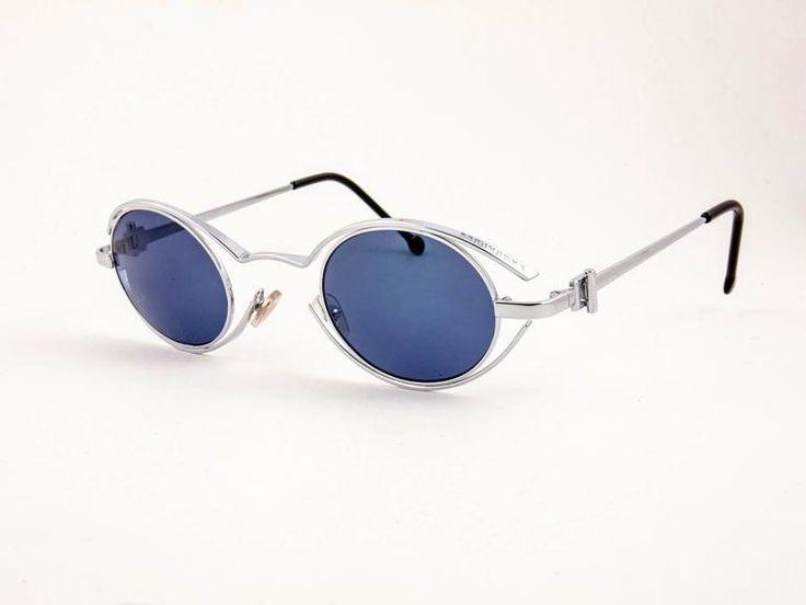 Vintage Karl Lagerfeld 4123 04 Oval Silver 1990 France Sunglasses