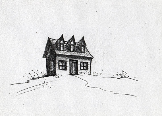 Line Art House : Clipartist house