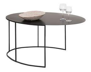 Couchtisch Slim Irony oval / H 42 cm, 86 x 54 cm - schwarzbraun von Zeus finden Sie bei Made In Design, Ihrem Online Shop für Designermöbel, Leuchten und Dekoration.