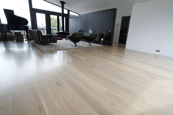blonded american oak floors - very nice - this is what we want!