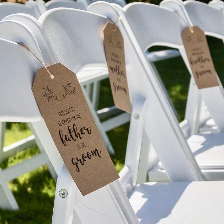 Gereserveerd Tags - Een gave printable met de namen van jullie gasten op tags voor tijdens de ceremonie of het diner. Custom made printable.