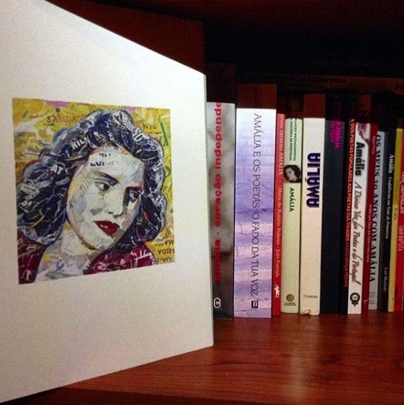 OUR ARTPRINT - PORTRAIT OF AMÁLIA RODRIGUES - FOTO by a lovely customer! :) // available in two sizes - A3 or A4 // ©philippe patricio / all rights reserved