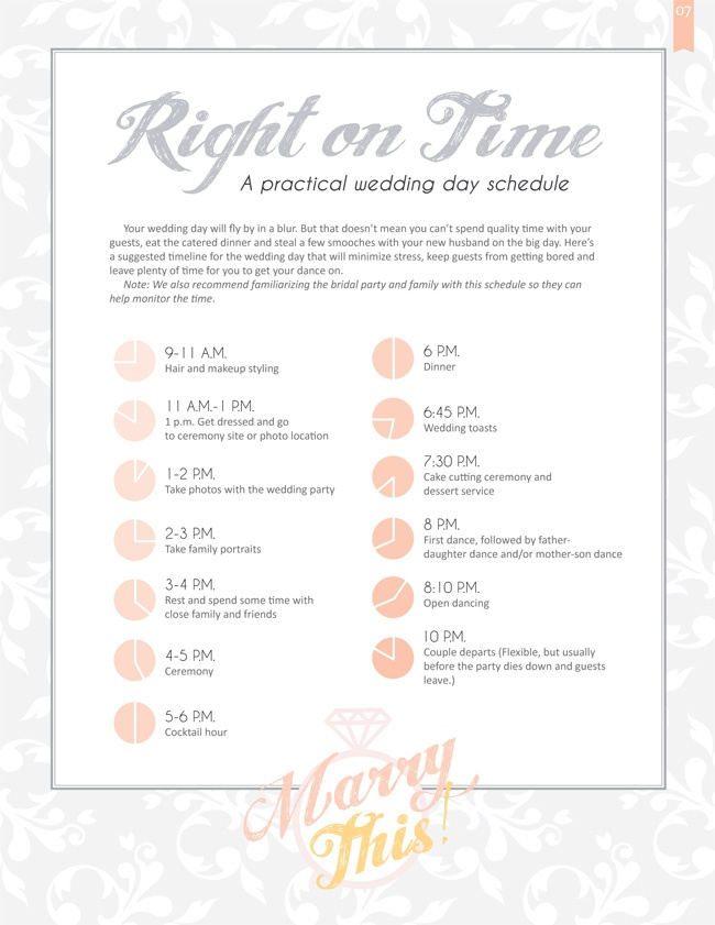 Best Wedding Day Timelines Images On   Weddings
