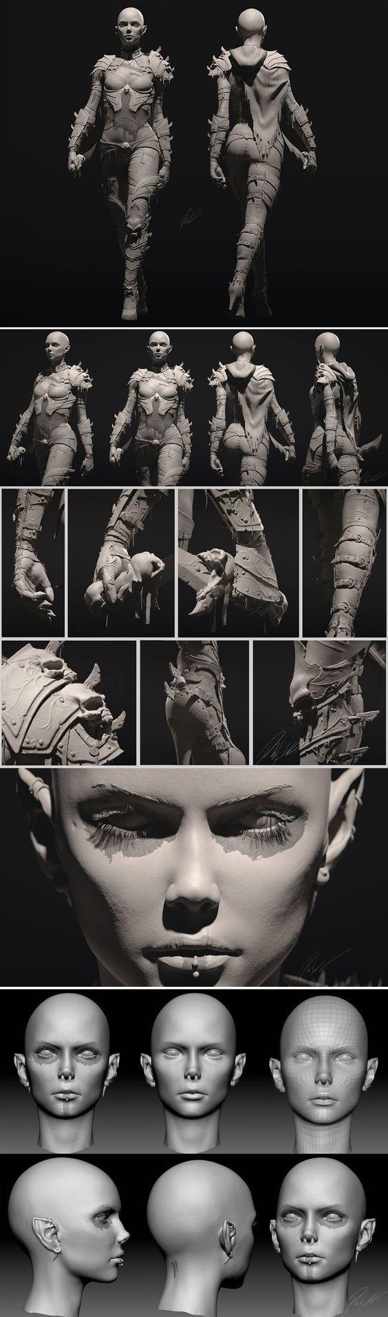 Syn - Dark Elf by Philip Harris-Genois http://www.cgrecord.net/2014/12/syn-dark-elf.html: