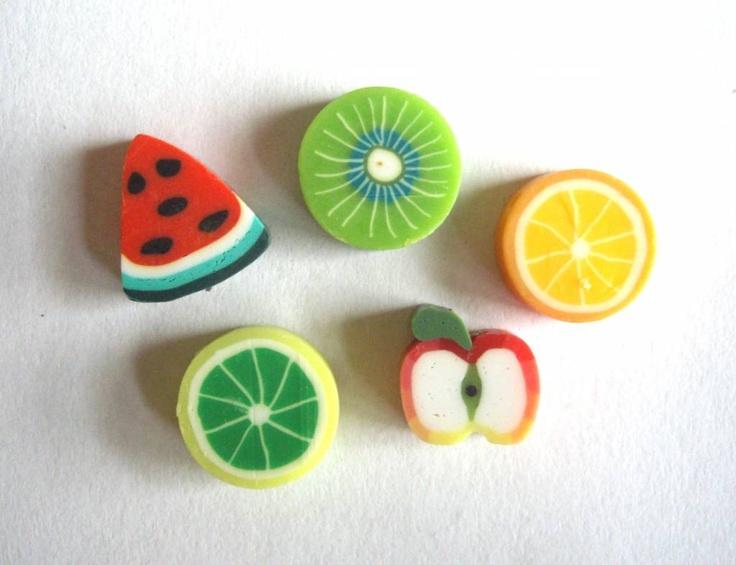 20 stuks Fimo Kralen Fruit Mix 11x4mm
