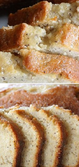Almond Poppyseed Bread...finally made this and it's THE BEST! I'll be making this ALL the time this winter! Ridiculous delicious! :)