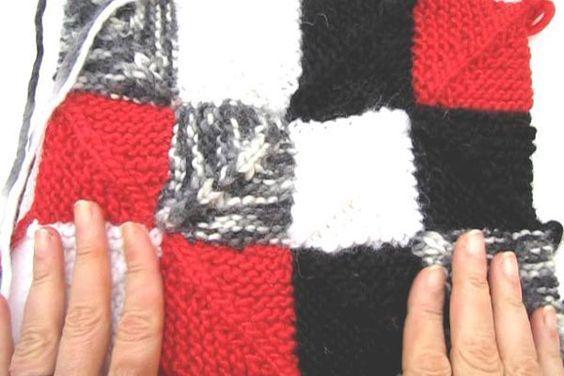 Domino Ecken * Patchwork stricken   Stricken lernen, Häkeln lernen mit eliZZZa * Socken stricken, Stricken Anleitungen,Strickmuster, Häkelmuster, Häkelanleitungen