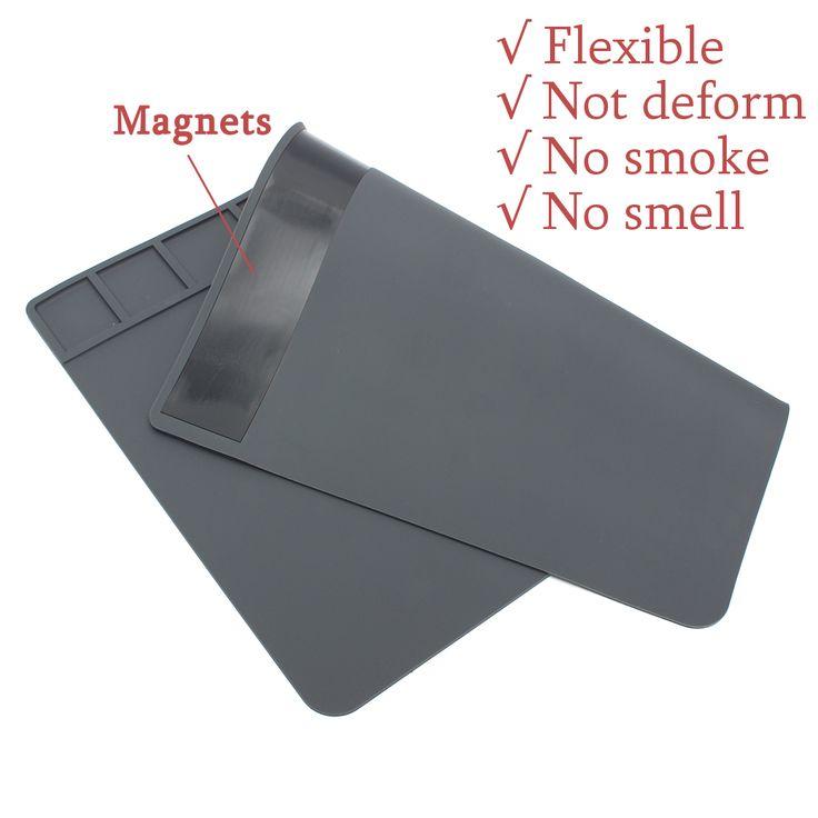 DANIU 49 x 35cm Magneti Isolamento termico Silicone Pad saldatura Piattaforma Riparazione Stazione