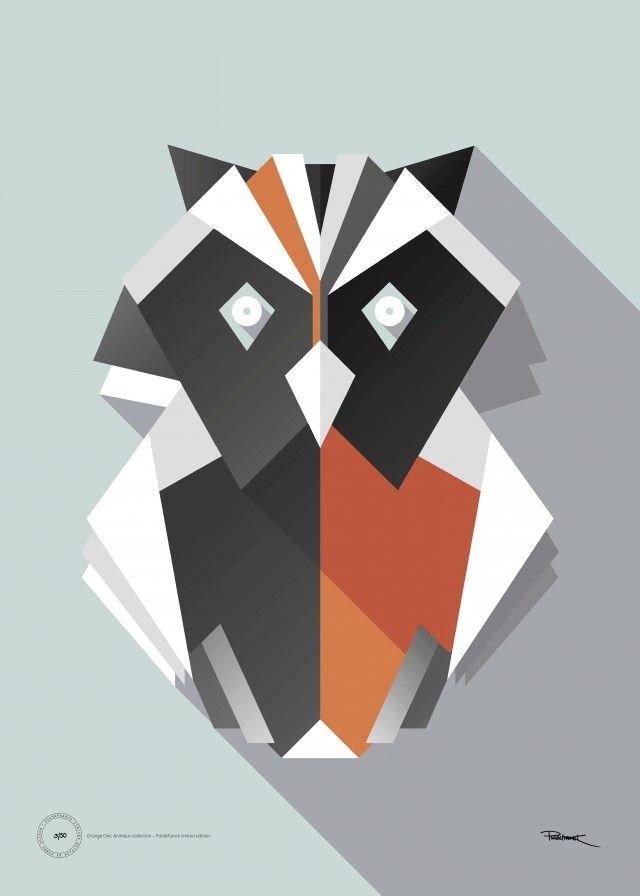Kanske snyggare än isbjörnen och enhörningen. Orange Owl – Limited editon - TAVLOR & POSTERS