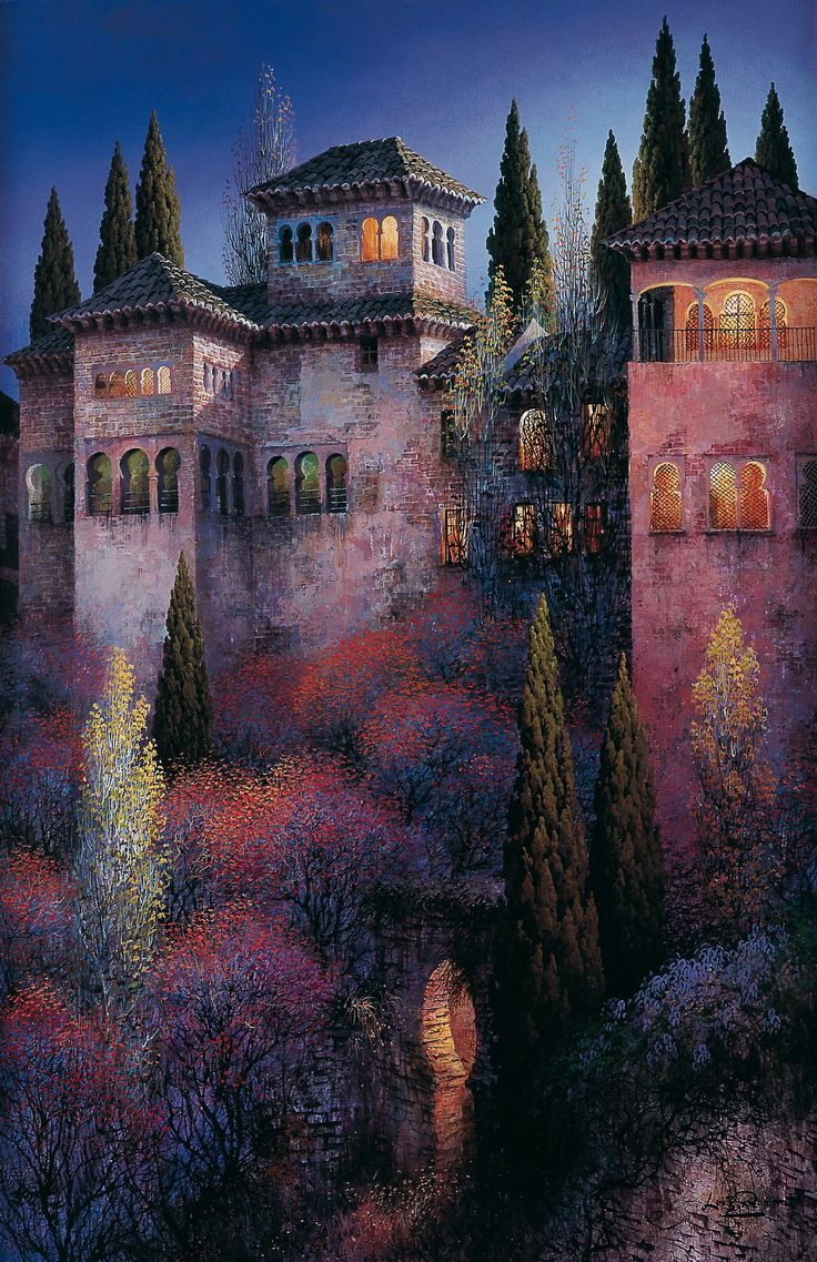 Night at the Alhambra - by Luis Romero