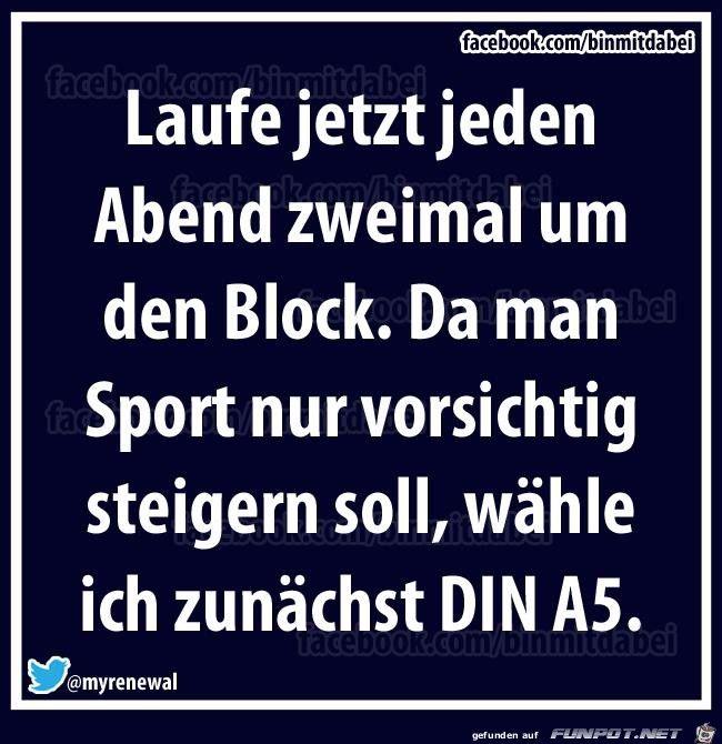 lustiges Bild 'Sport um Block.jpg' von Nogula. Eine von 61029 Dateien in der Kategorie 'Lustiges' auf FUNPOT.