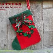 Traditional Christmas Stocking , named  - via @Craftsy