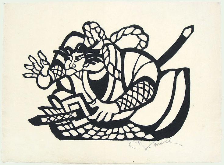 Warrior, circa 1970s by Yoshitoshi Mori (1898 - 1992)