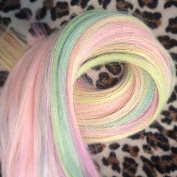152 best rainbow images on pinterest braids colorful rainbowsorbet colored hair extensions the beauty thesis pmusecretfo Images